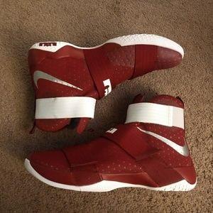 7ed4f39a45e Nike Shoes - Nike Lebron Soldier 10 TB Promo Size 17 Team Rd
